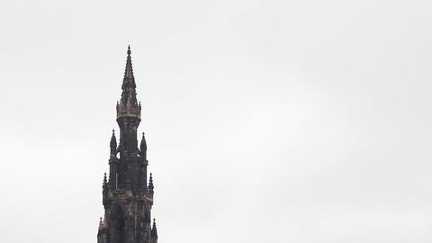 Scott Monument, Princess Street Gardens, Edinburgh Stock Video Footage