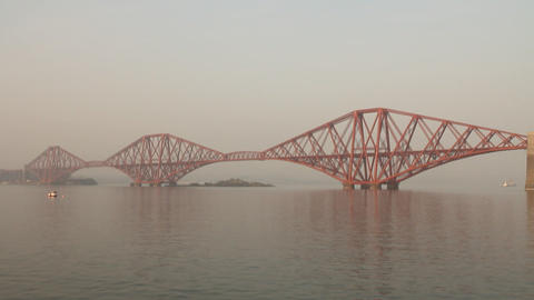 The Forth Bridge Stock Video Footage