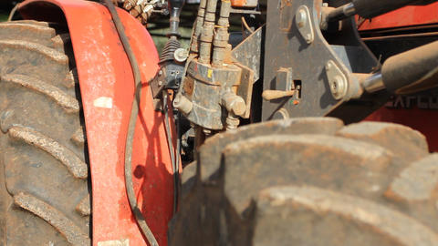 Old Tractor – Detail stock footage