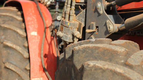 Old tractor – detail Stock Video Footage