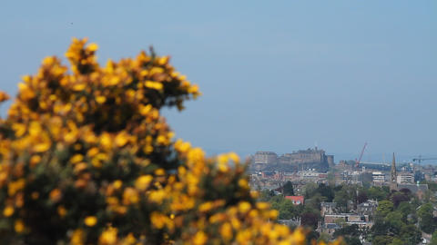 View of the castle in Edinburgh Footage