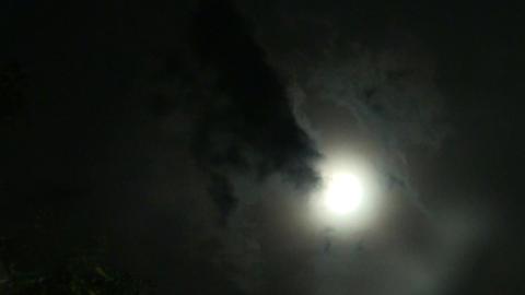 Moonlight behind Clouds - Mondlicht hinter Wolken - real... Stock Video Footage