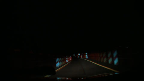 Driving By Night stock footage