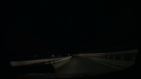 Driving by Night Stock Video Footage