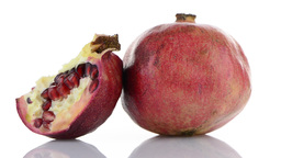 Half pomegranate fruit Footage