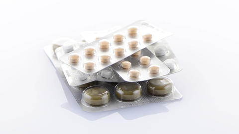 Packs of pills Stock Video Footage