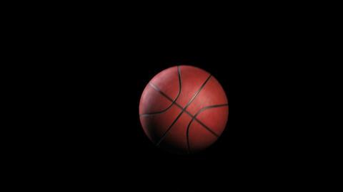 Basketball, Rotation on black background, loop Stock Video Footage