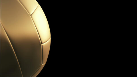 Volleyball, Rotation on black background, loop Stock Video Footage