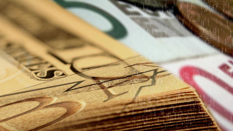 money graph Stock Video Footage