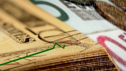 Money Graph stock footage