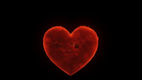 Burning heart Stock Video Footage