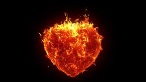 Burning heart Animation