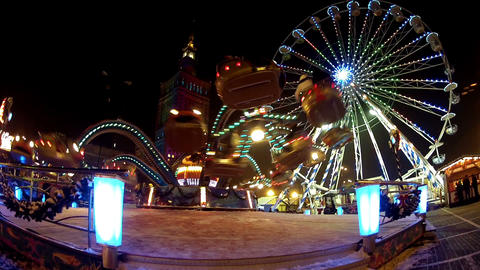 Carousel at night Footage