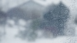 Snow On Window stock footage