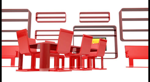 Minimal Design Furniture Set Modelo 3D