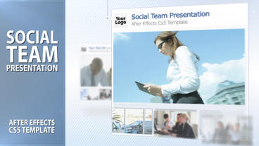 Social Team Presentation - After Effects Template After Effects Project