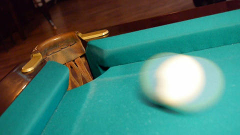 Billiard ball potted Stock Video Footage
