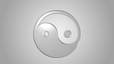 Yin Yang symbol Stock Video Footage