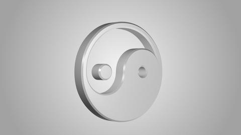 Yin Yang symbol Stock Video Footage