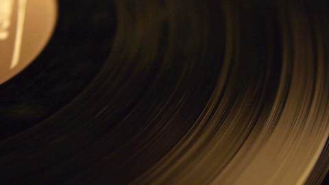 Vinyl record close-up Stock Video Footage