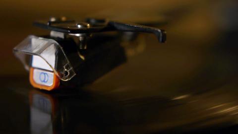 Vinyl record close-up Footage