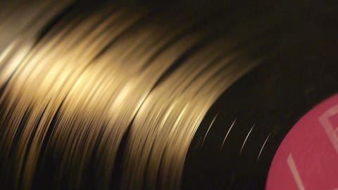 Vinyl record top view Stock Video Footage