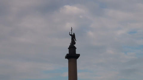 Alexander Column On Palace Square stock footage
