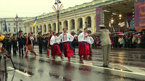 Russian folk dance Stock Video Footage