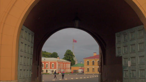 The Arch of the peter and paul fortress Footage