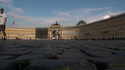 Palace Square in Petersburg Footage