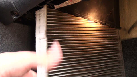 Cabin filter car Stock Video Footage