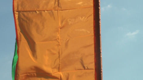 flags in the wind Stock Video Footage