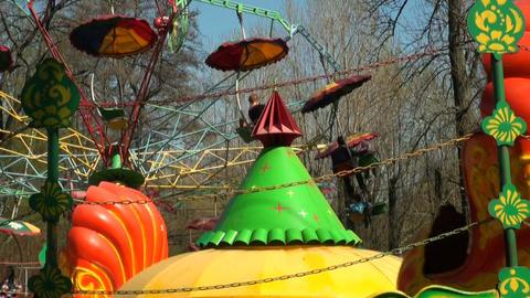 Children's merry-go-round Stock Video Footage