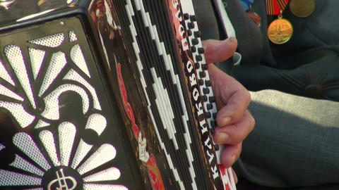 Button accordion Stock Video Footage