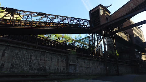 Coke Plant At Old Metallurgical Plant Live Action