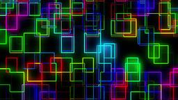 Led Illuminated Fractal Lines Running Background Animation