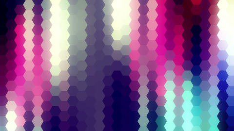 Colored Hexagons Road Loop Moving Rays Animation