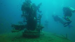 shipwreck htmc sattakut, thailand Footage