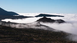 timelapse, view of the teide with moving clouds Footage