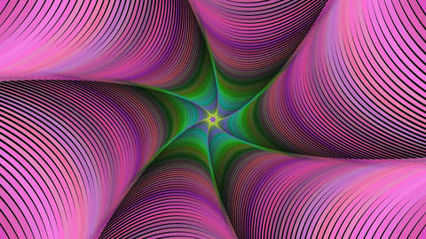Colorful abstract twisted swirl fractal background - seamless loop Animation
