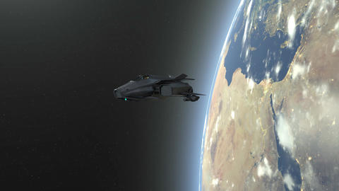 Space ship CG動画素材