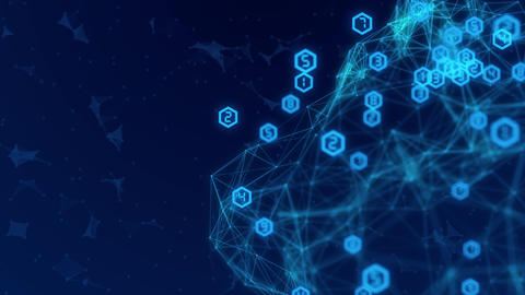 Abstract Network connection concept creative motion graphic background CG動画素材