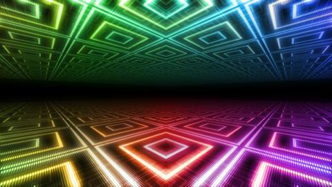 LED Floor 1 D F1a 4k CG動画素材