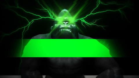 Green Eye Lightning Gorilla Full HD VJ Loop Animation