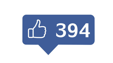 """Like button"" with numbers on social network Animation"