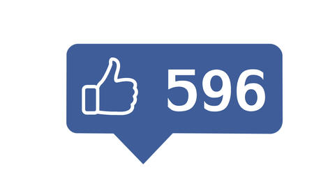 """""""Like button"""" with numbers on social network Stock Video Footage"""