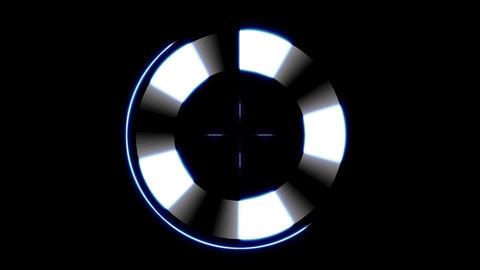 Minimalistic Futuristic Lock on Target HUD Live Action
