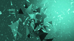 Space neon background with particles Animation