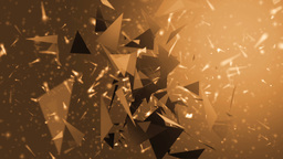Space silver background with particles Animation