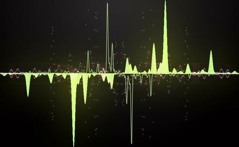 Audio Wave stock footage